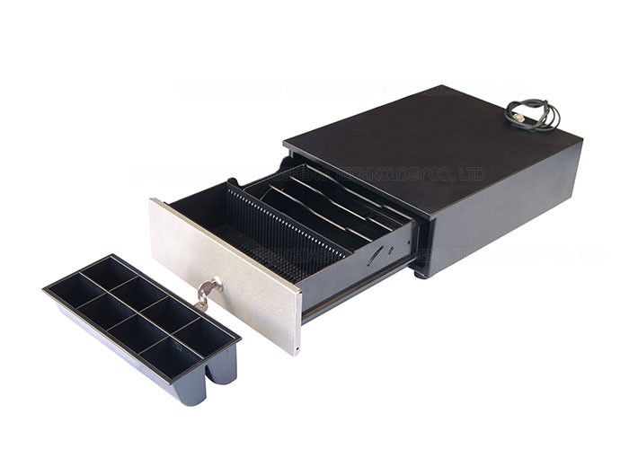 Mini 240 Compact Cash Drawer 6V - 24V Steel Construction For ECR / Retail